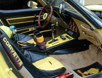 1977 Chevrolet Corvette Coupe, Custom interior with cuda shift grips an NOS setup