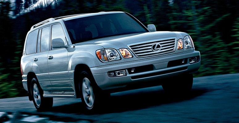 2007 Lexus LX 470 Base, Front Quarter View, exterior, manufacturer