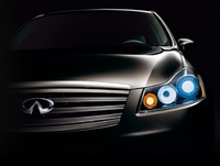2006 Infiniti M45, Front Right Headlight View, exterior, manufacturer