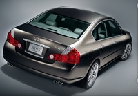 2007 Infiniti M45, Back Right Quarter View, manufacturer, exterior