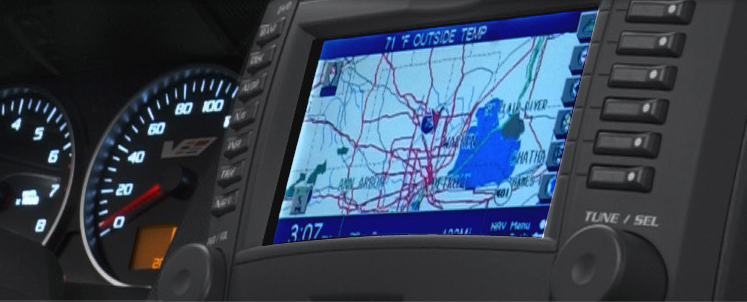 2007 Cadillac CTS-V, navigation screen, interior, manufacturer