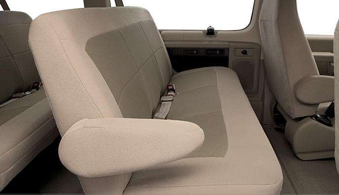 2007 Ford E-350, standard seating, manufacturer, interior
