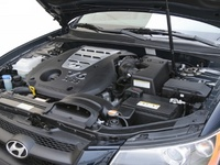 2008 Hyundai Sonata GLS, Engine bay, manufacturer