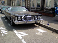 1976 Ford Thunderbird, JT_Birds 76` Big Bird the day Repaired and Rechromed bumper was fitted / photo 3