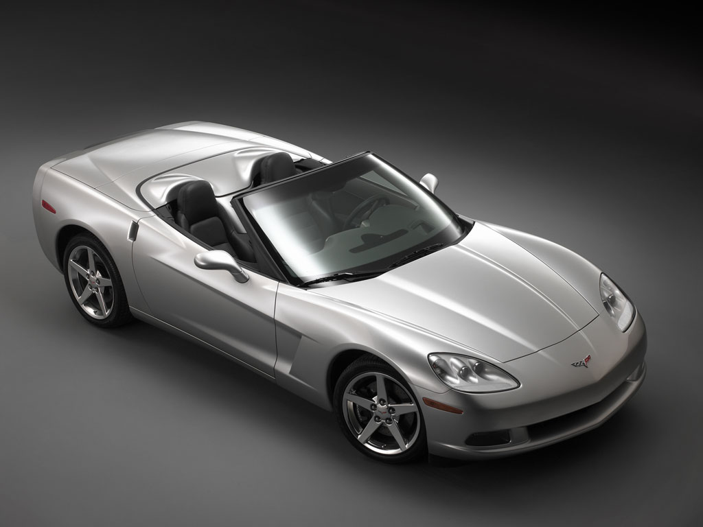 2008 Chevrolet Corvette Convertible, Front Right Side View, exterior