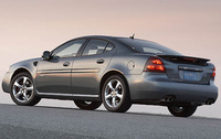2008 Pontiac Grand Prix GXP, Rear-quarter view, manufacturer, exterior