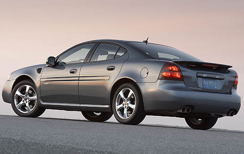 2008 Pontiac Grand Prix GXP, Rear-quarter view, exterior, manufacturer