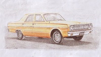 1966 Dodge Dart, The only thing on this car I now have is this drawing