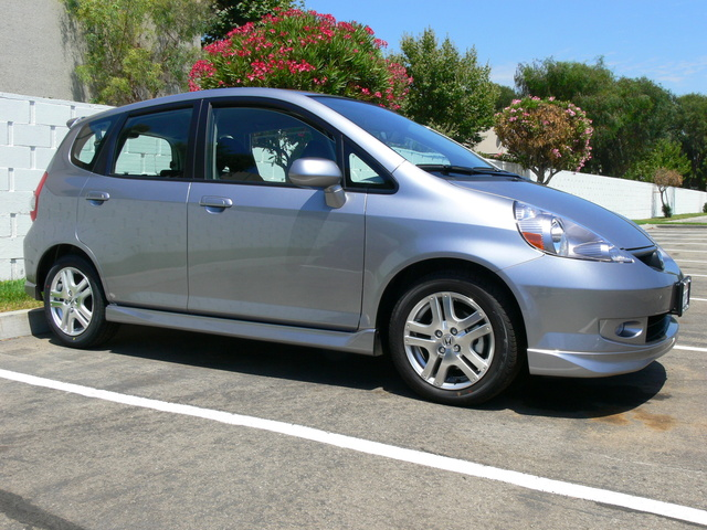 silver storm metallic Honda Fit Sport 5-speed manual trans.
