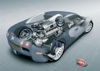 2006 Bugatti Veyron 16.4, Schematic cutaway