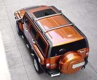 2008 Hummer H3, Top View