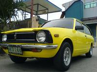 1970 Toyota Corolla, banana mag wheels...