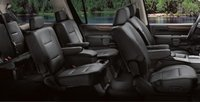 2008 Nissan Armada, seating with folding seat feature, interior, manufacturer