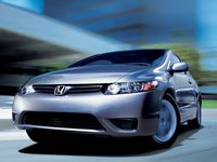 2007 Honda Civic Coupe, front view, exterior, manufacturer