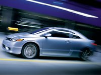 2007 Honda Civic Coupe, side view, exterior, manufacturer