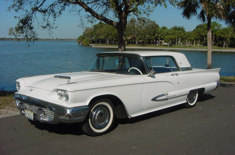1959 ford thunderbird with very rare borg warner 3 speed manual