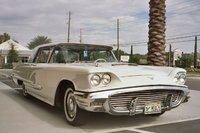 1959 Ford Thunderbird, 1959 Ford thunderbird with very rare Borg-Warner 3-speed manual transmission and overdrive.  H9YH112305. Thunderbird Registry #17402, exterior