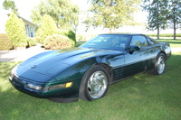 1993 Chevrolet Corvette Coupe, Polo Green 1993 Coupe