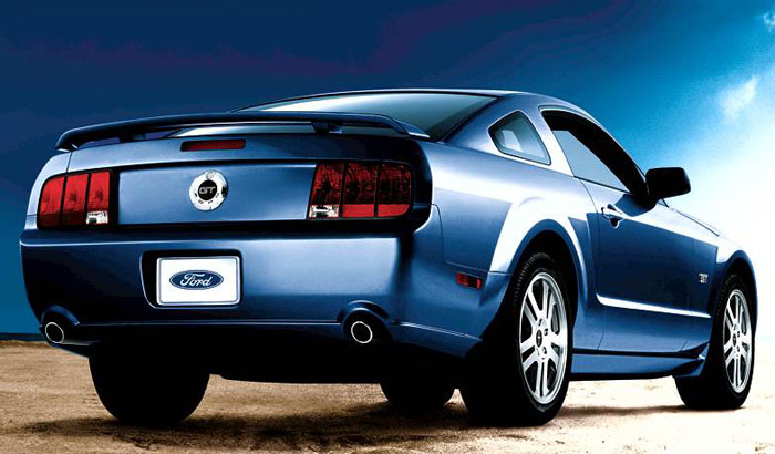 2008 Ford Mustang, Rear-quarter view, manufacturer, exterior