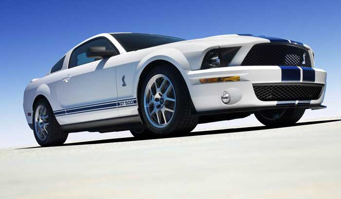 2008 Ford Shelby GT500, Front-quarter view from down low, exterior, manufacturer