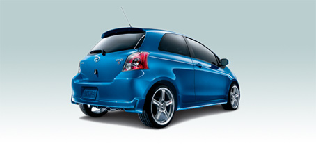 2008 Toyota Yaris Base 2dr Hatchback, Back Corner View, manufacturer, exterior