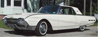 1962 Ford Thunderbird, Front-quarter view, exterior, interior