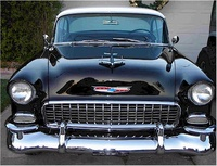 1955 Chevrolet Bel Air, Head-on view, exterior