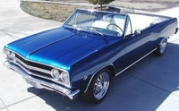1965 Chevrolet Malibu, Front-quarter view of an SS convertible from above