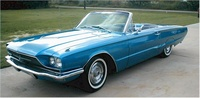 1966 Ford Thunderbird, Front-quarter view of a convertible, exterior
