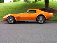 1968 Chevrolet Corvette, day of purchasing my babby.