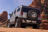 2008 Hummer H2, back three quarter