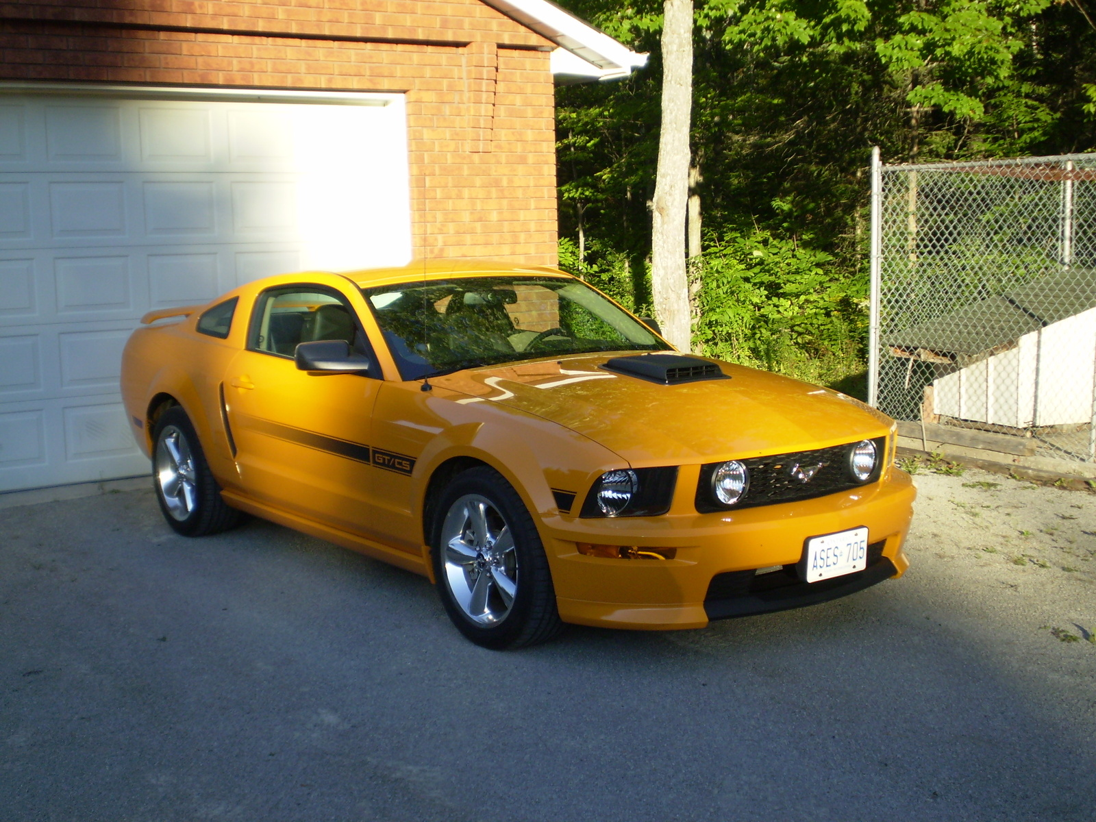 2007 ford mustang gt premium my new 2007 with shaker hood installed. Black Bedroom Furniture Sets. Home Design Ideas