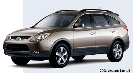 2008 Hyundai Veracruz Limited, three quarter front, exterior, manufacturer, gallery_worthy