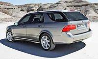 2008 Saab 9-5 SportCombi, three quarter back, exterior