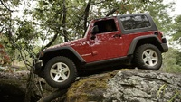2008 Jeep Wrangler Rubicon, Profile view, manufacturer, exterior