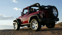 2008 Jeep Wrangler Rubicon, Rear-quarter view, exterior, manufacturer