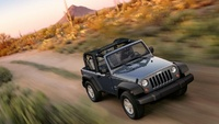 2008 Jeep Wrangler X, Front-quarter view from above, manufacturer, exterior