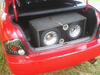 2005 Nissan Sentra 1.8 S, My Old bass. 2 12 MTX Speakers, with MaTT Amp.I will have more pics 2 show later. Just cant find them on my computer..... Grrr., interior
