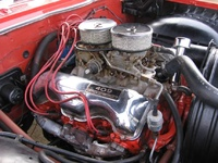 1961 Chevrolet Bel Air, Engine of a 1961 Chevy Bel Air, interior