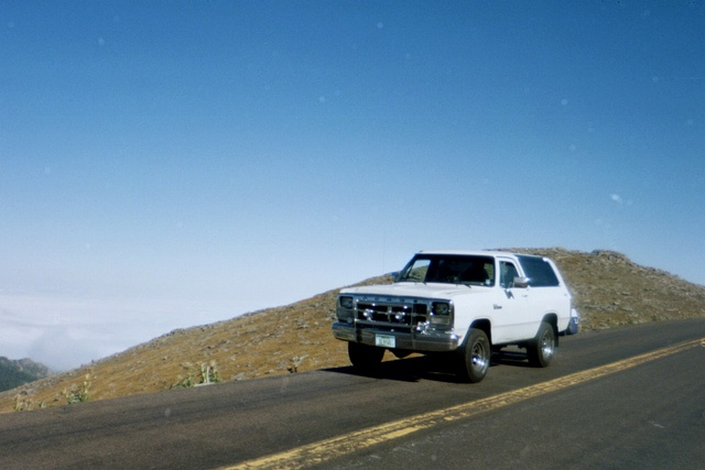 1991 Dodge Ramcharger 2 Dr 150 LE SUV, top of Mt.Evens Colorado 14,000 feet