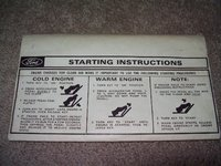 1971 Ford Country Squire, Sun visor starting instructions, gallery_worthy
