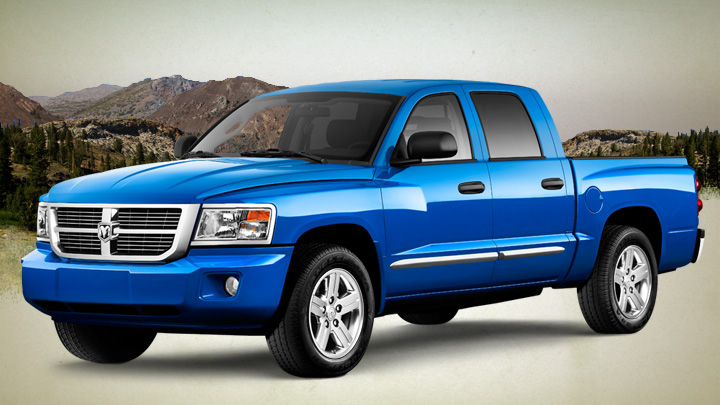 2008 Dodge Dakota, Front-quarter view, manufacturer, exterior