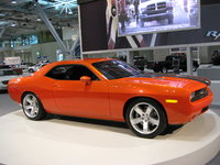 Front-quarter view of the 2008 Dodge Challenger Concept on display at the 2007 New England International Auto Show, exterior