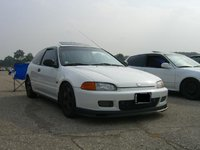 1995 Honda Civic CX Hatchback, Second Kitchener Honda Tech meet.  This is how my car looked before I started the rebuild.