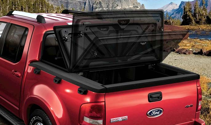 2008 Ford Explorer Sport Trac, optional hard tonneau cover, manufacturer, exterior