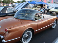 1955 Chevrolet Corvette Convertible Roadster, Go to many car shows , as you see the bubble top and dealer wire wheels, exterior
