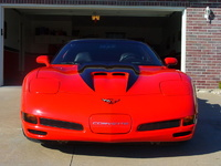 1998 Chevrolet Corvette Coupe, Torch Red 1998 C5 with additional RK Sport Carbon Fiber Stinger Hood and rare C5 Black Chrome  American Racing Wheels., exterior