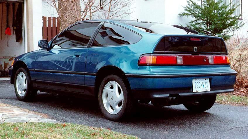 picture of 1990 honda civic crx 2 dr si hatchback. Black Bedroom Furniture Sets. Home Design Ideas