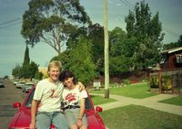 1978 Holden Gemini, Me and Kristie in Bega - Approx 1987-88