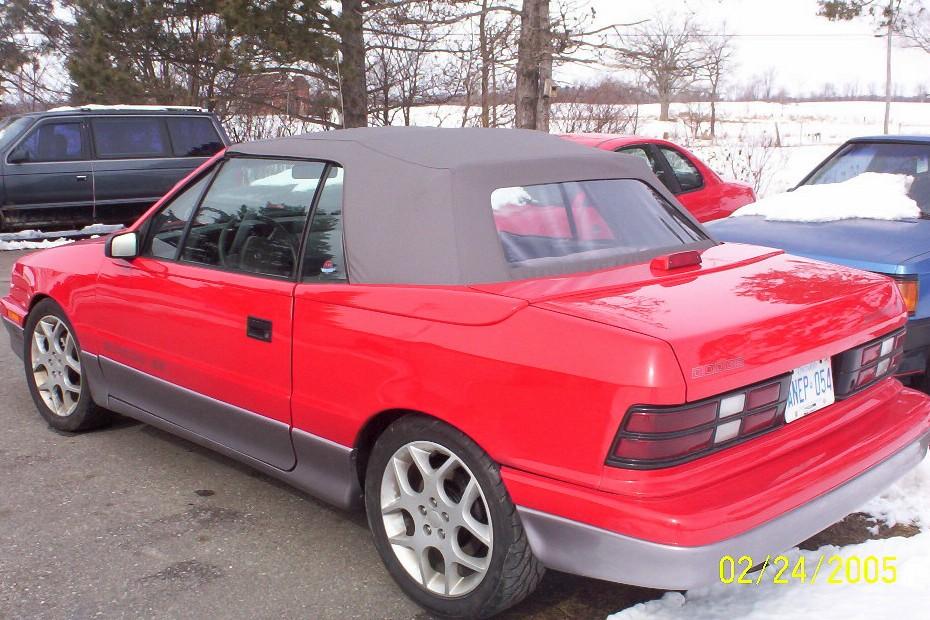 Dodge Shadow Convertible. 1991-Dodge-Shadow-Convertible
